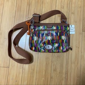 Slim Fossil Crossbody NWT - MultiColor